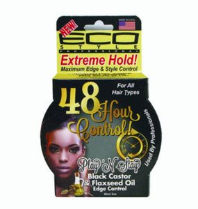 Eco Style Play 'N Stay 48 Hour Edge and Style Control Black Castor & Flaxseed Oil