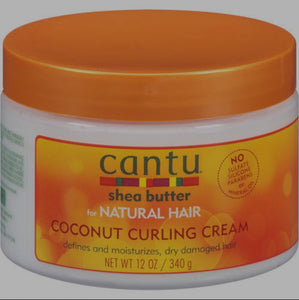 Cantu for Natural Hair Coconut Curling Cream 12 oz