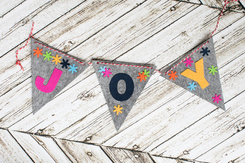 Joy Banner Craft Kit - Kids Crafts Inc