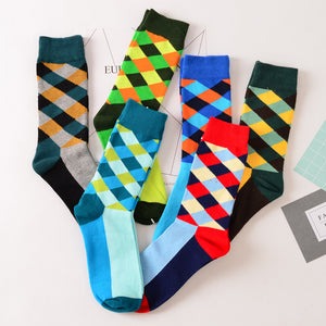 Colorful Men Cotton Socks  Business Styles - ALL NECKTIES