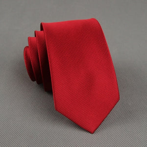 Necktie Classic Solid Color Tie 6cm - ALL NECKTIES