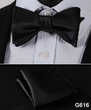 Men Butterfly Self Bow Tie BowTie Pocket Square Handkerchief - ALL NECKTIES