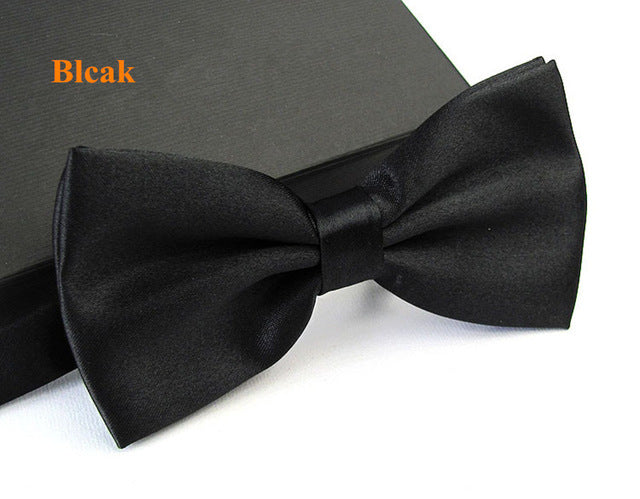 2017 New Arrival Men's Fashion Tuxedo Classic Solid Color Butterfly Wedding Party Bowtie Red Black White Bow Tie Free shipping - ALL NECKTIES
