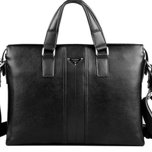 man leather business briefcase laptop bags - ALL NECKTIES
