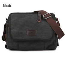 Men's Durable Vintage Canvas Messenger Bags Shoulder Bags handbags Leisure Work Travel Outing Business for 9.7 inch iPad - ALL NECKTIES