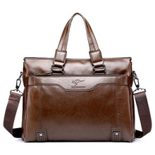 Famous Brand Shoulder Travel bag Genuine Leather Men's Briefcase Business Men Handbag Messenger Laptop Bag Men's Totes Handbag - ALL NECKTIES