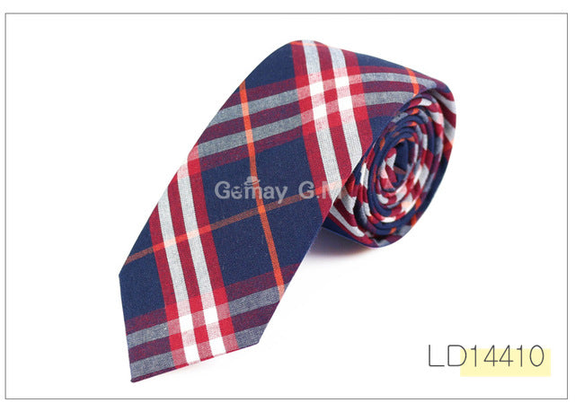 Fashion 100% Cotton Ties For Men Casual Plaid Necktie - ALL NECKTIES