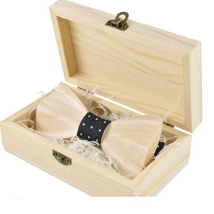 Wood Bowtie Male Formal Wear Business Suit - ALL NECKTIES