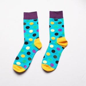 Fashion Socks Men Cotton Crew Polka Dot Print - ALL NECKTIES