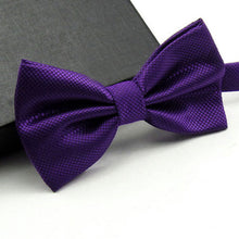 Men Fashion Solid Bowtie  Butterfly Bow Tie - ALL NECKTIES