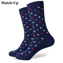 Small dot  men's combed cotton Business socks US size(7.5-12) - ALL NECKTIES
