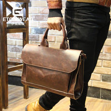 Vintage Leather Briefcases Men Messenger Bags - ALL NECKTIES
