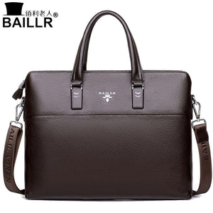 BAILLR 2017 Men Tote Bags Genuine Leather Business Bag Fashion Handbags Male Laptop Briefcase Crossbody Bags Men's Messenger Bag - ALL NECKTIES