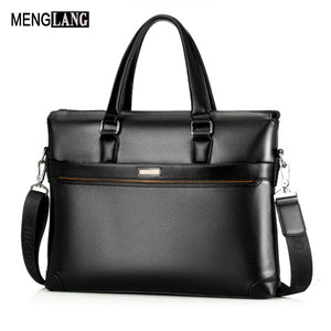Men Briefcase With Quality Leathe Famous Brand 15.6 inch Commercial laptop Business Briefcase For Men Crossbody shoulder bag - ALL NECKTIES