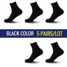 High Quality Casual Men's Business Socks For Men Cotton Brand Crew Autumn Winter Black White Socks meias homens 5 Pairs Big Size - ALL NECKTIES