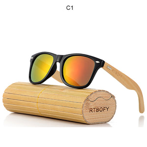 Bamboo Wood Sunglasses Men Brand Designer Goggles - ALL NECKTIES