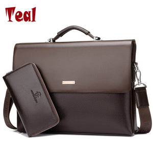 2018 New Arrival Famous Brand Business Men Briefcase Bag PU Leather Laptop Bag Briefcase Male PU Leather Shoulder bags - ALL NECKTIES