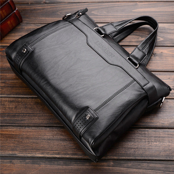 2018 Men Business Casual Shoulder Strap Postman Package Leather Messenger Bags Notebook Handbags Fashion Handbags Travel Bag - ALL NECKTIES