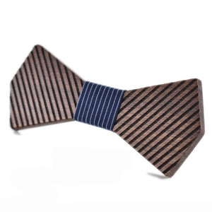 Men's Wooden Bow Tie Geometric Bowtie For Fashion - ALL NECKTIES