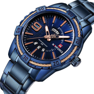 Top Brand Luxury Men Watches Blue style - ALL NECKTIES