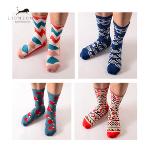Men's Casual Cotton Long Stockings Business Socks 22Colors - ALL NECKTIES