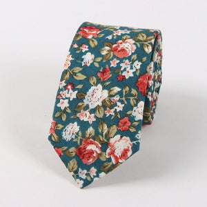 Business Floral Ties for Men Skinny Slim Neck Ties - ALL NECKTIES