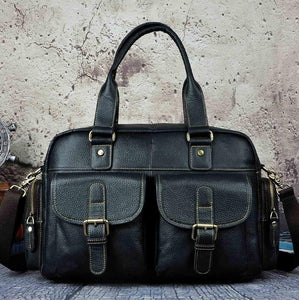 Leather Casual Fashion Men Briefcase Business - ALL NECKTIES