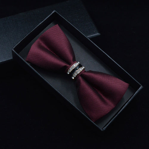 Tuxedo Metal Crystal Wedding Bow Tie - ALL NECKTIES