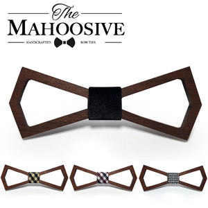 Wooden Fashion Bowties Groom Normal Mens wood Hollow Cravat Gift For Men Butterfly Gravata Male Marriage Wedding Bow Ties - ALL NECKTIES