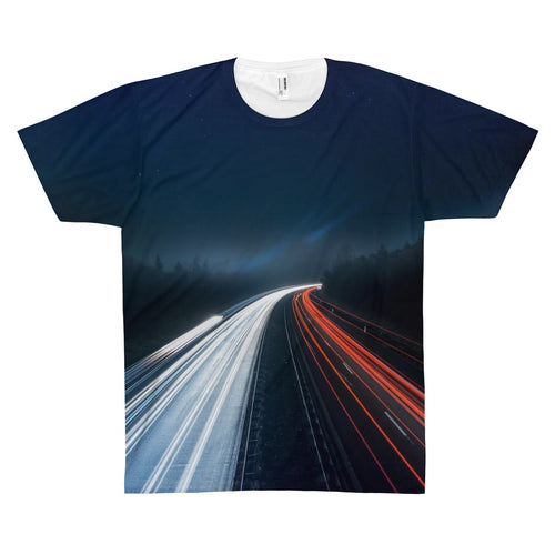 Night Highway Premium Art Shirt