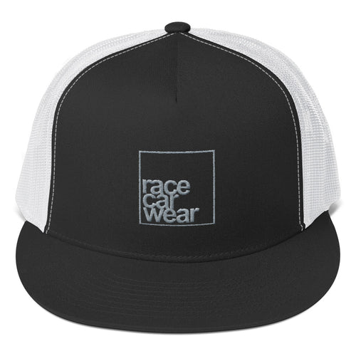 Lower Case Square Trucker Snapback Hat