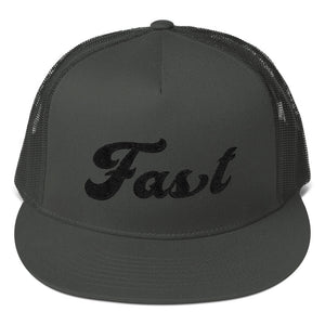 Fast Vintage 5-Panel Flat-Billed Trucker Hat