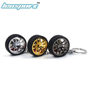 Split 5-Spoke Wheel and Tire with Performance Brake Keychain