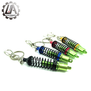Green Shock and Spring Keychain