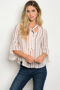 Blush Striped Top