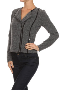 Knit Grey Blazer