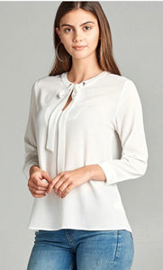 Tie-Up White Blouse
