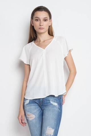Short-Sleeve White Top