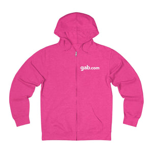 Gab.com  Lightweight Zip Hoodie With Back Emblem