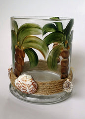 Marigot Art Palm Tree Candle Holder