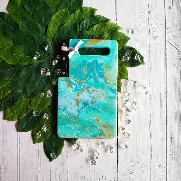 Marigot Art Miami Florida Home Decor Hand Painted Original Resin Acrylic Art Unique Tropical Gift