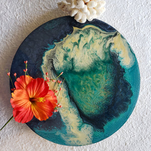 Marigot Art Miami Florida Home Decor Fluid Art Custom Resin Local Art
