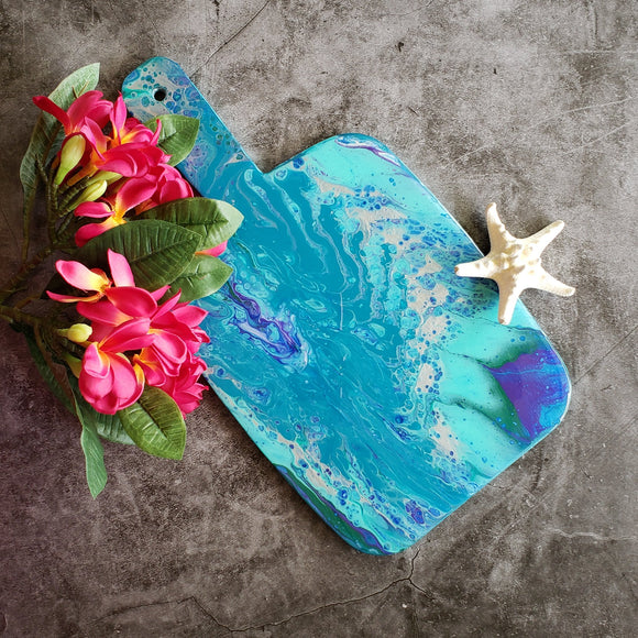 Marigot Art Miami Florida Home Decor Hand Painted Handmade Original Resin Acrylic Art Unique Tropical Gift