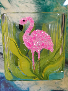 Candle Holder, Flamingo