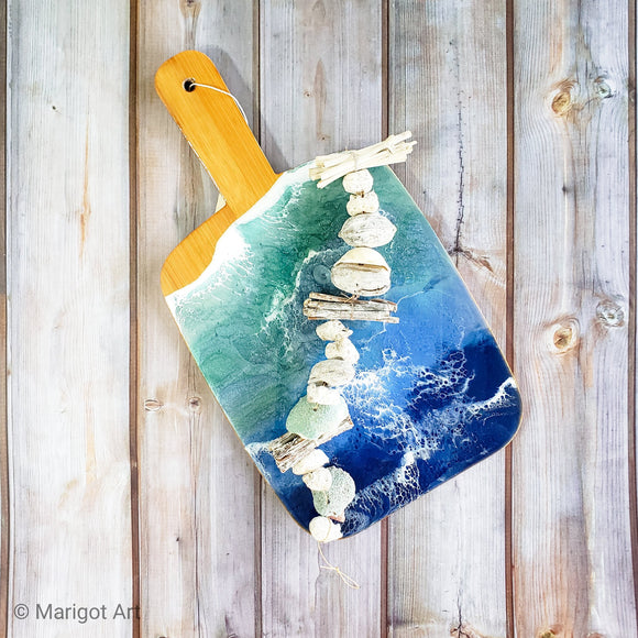 Marigot Art Miami Florida Home Decor Hand Painted Handmade Original Resin Acrylic Art Unique Tropical Gift Caribbean Marigot Bay Saint Lucia