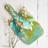 Marigot Art Miami Florida Home Decor Hand Painted Handmade Original Resin Acrylic Art Unique Tropical Gift Acrylic Pour