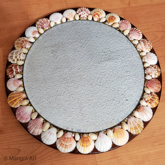 Marigot Art Miami Florida Home Decor Mirror Art Shells Beach