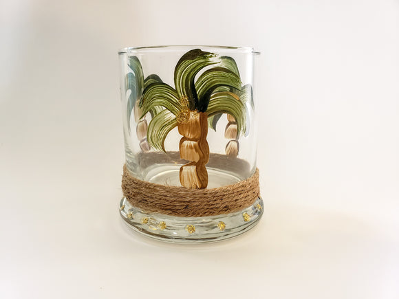 Candle Holder, Round Palm