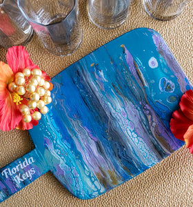 Marigot Art Florida Keys Home Decor Fluid Art Custom Resin Local Art
