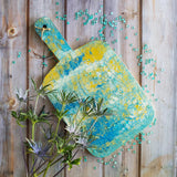 Marigot Art Miami Home Decor Hand Painted Cutting Board Poured Art Resin